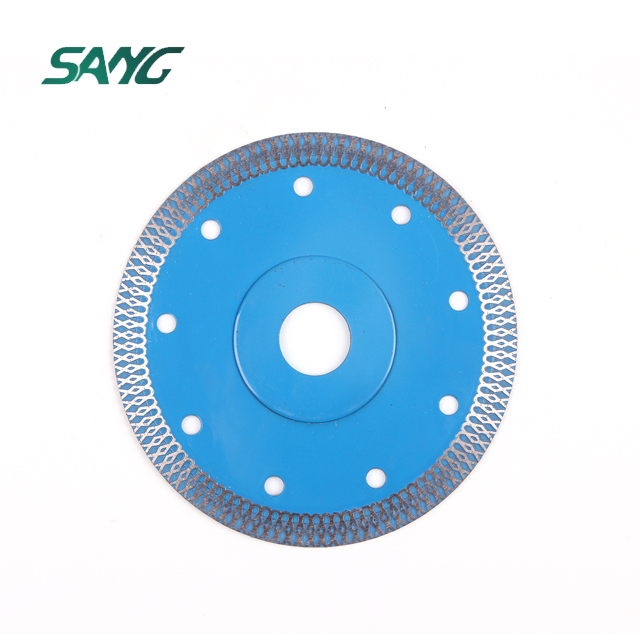 "5"" 125mm Sintered continuous rim turbo blade Diamond Cutting Blade for porcelain tile and ceramics"
