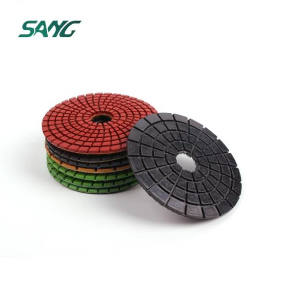 4 Inch polishing pads for marble,diamond polishing pads,125mm polishing pad