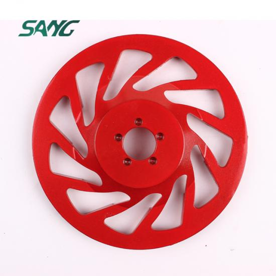 diamond cup wheel, diamond cup wheel factory, diamond cup grinding wheel made in china, V shape segment cup  wheel, abrasive disc, arrow polishing pads