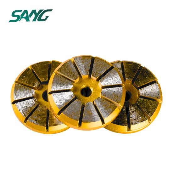 3 inch 10segments grinding pad, china grinding tool, abrasive disc for grinding concrete